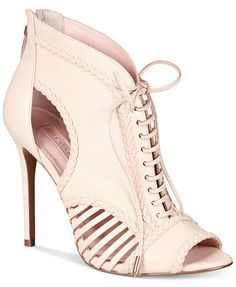 Avec Les Filles Joyce Lace-Up Open-Toe Pumps, Only at Macy's | macys.com