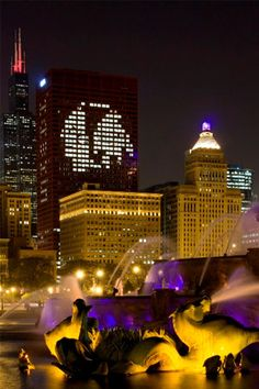 ♥♡♥ Blackhawks! I love when the Chicago skyline looks like this =. Stanley Cup Winners 2010 and 2013.