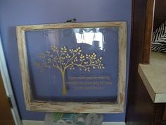 A Mustard Seed Dream: From Junk to... ART!! Old Wood Window: Vinyl, Wall Art, Graphics, Lettering, Decals, Stickers