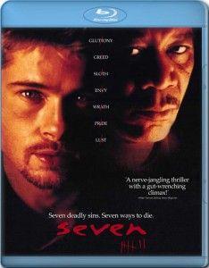 seven movie Seven (Brad Pitt, Morgan Freeman Horror Movie Posters, Disney Movie Posters, Iconic Movie Posters, Iconic Movies, Horror Movies, Best Movies List, Good Movies On Netflix, Movie List, Great Movies