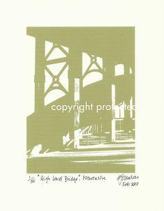 Limited Edition Print: The High Level Bridge, Newcastle Upon Tyne / Gateshead, England, UK via Etsy http://www.etsy.com/listing/123651361/limited-edition-print-the-high-level?ref=teams_post