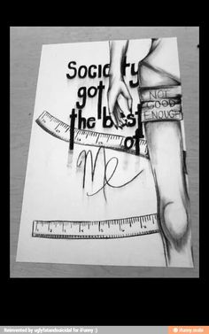 art and anorexia Depression Art, Depression Quotes, Sad Drawings, Drawing Sketches, Drawing Ideas, Realistic Drawings, Pencil Drawings, Sketching, Feelings