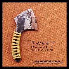 SOLD - Bladetricks Sweet Pocket Cleaver #custom #knife