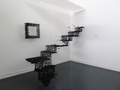 "Seon Ghi Bahk's ""Existence - Stairs"" ... reminds me of Cornelia Parker's ""Hanging Fire (Suspected Arson)"" installation."