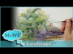 """How to Paint a Spontaneous Watercolor Landscape – """"Accidental Painting"""" - YouTube"""