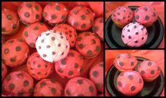 polka dot ladybug cupcakes