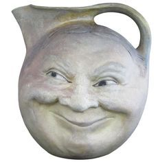 Martin Brothers Face Jug - Is he the Man in the Moon? Sun Moon Stars, Sun And Stars, Antique Pottery, Pottery Art, Handmade Pottery, Martin Brothers, Face Jugs, Moon Shadow, Moon Face