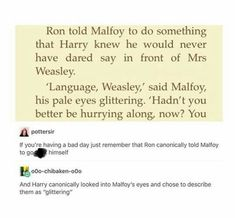 Ron Weasley , Draco Malfoy and Harry Potter's relationship Harry Potter Ships, Harry Potter Marauders, Harry Potter Jokes, Harry Potter Universal, Harry Potter Fandom, Harry Potter World, Hogwarts, Slytherin, Yer A Wizard Harry