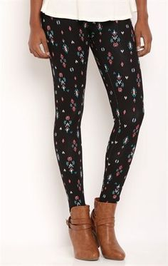 Deb Shops Southwest Print #Leggings $10.00