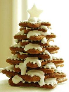 Eetbare kerstboom van koekjes