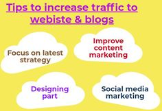 Let us have a look at some vital factors that will help us to grow more and more traffic to the websites and blogs