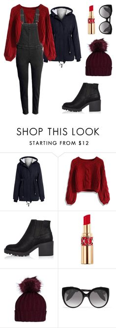 """""""Red"""" by chlcb ❤ liked on Polyvore featuring Chicwish, H&M, River Island, Yves Saint Laurent and Alexander McQueen"""