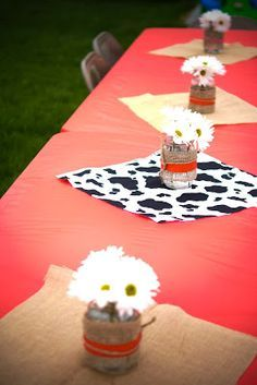 I had a pretty clear vision for what I wanted the party to look like. Farm Animal Birthday, 1st Boy Birthday, Boy Birthday Parties, Birthday Party Decorations, Barnyard Party, Farm Party, Cow Baby Showers, Cowboy Theme Party, Party Themes For Boys