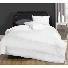Canada's Best Cotton Blend Lightweight Down Alternative Comforter, White