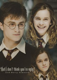 "Hermione laughed. ""Harry, you're worse than Ron.... Well, no, you're not,"" she sighed. <-- agreed. Ron is the worst picj ever."