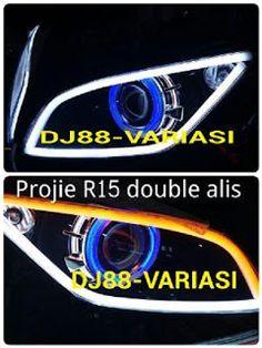 BEST!! Projie R15 , Lampu Projector R15 , Reflektor R15 , Alis Lampu R15 , Angel Eyes Demon Eyes Devil Eyes R15 , Lampu Hid R15