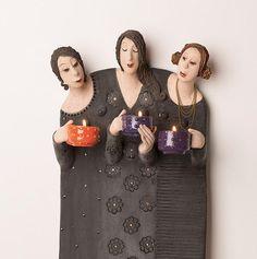 paper mache sculptures yoga poses - Google Search