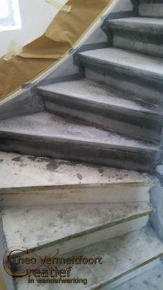 concrete staircase, concrete look on wood, concrete paint staircase interior – Chandelier Ideas