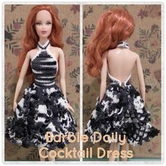 This hub is a free crochet pattern for a Barbie Doily Cocktail Dress.