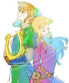 Skyward Sword, Link and Zelda