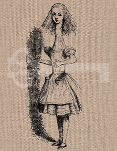 Stretched Alice Digital Download Image No187  by TanglesGraphics, $1.00