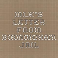 MLK's Letter from Birmingham Jail