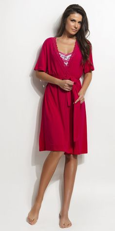 Women's Robe 93% micro-modal 7% elastane | Robes| Vamp! Robe 93% micro-modal 7% elastane 4318 Short Sleeve Dresses, Dresses With Sleeves, Ss 15, Natural, Collection, Fashion, Gowns, Gowns With Sleeves, Moda
