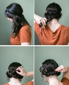 Twist, roll and tuck. Place your headband on your head like a crown. Twist your hair slightly and roll that piece up while tucking it over and into your headband. You spread out your rolled up hair so it looks more full. www.buzzfeed.com