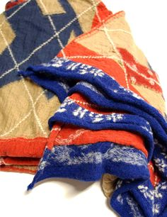 Kapital scarf. Material: 100% compressed wool. Made in Japan.