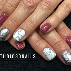 marble nails, nail art, opi, manicure, manicures, glitter, accent, gel polish