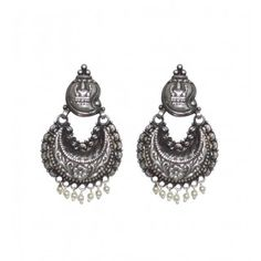 Find a huge range of fashionable and elegant collection of long silver earrings online at Rajsi .  View more at : http://www.rajsi.in/products/earrings.html