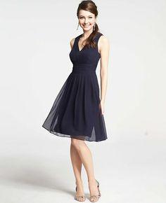Silk Georgette Pleat Tank Dress