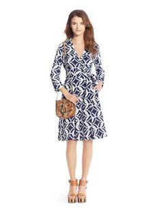 DVF Patrice Printed Cotton Wrap Dress Worn By Kate Middelton