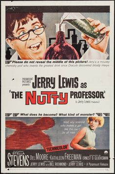 The Nutty Professor (Paramount, 1963)..can't believe this film is as old as me!!...it's still fab