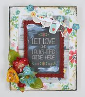 Gorgeous canvas by Eva Dobilas from Petaloo during the Petaloo-Simple Stories Valentine's Day Team Up 2014 http://petaloo.typepad.com/blog/2014/02/8x10-valentines-day-canvas.html