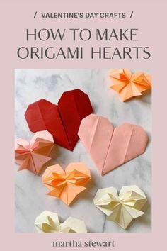 Valentines Origami, Valentine Day Crafts, Holiday Crafts, Valentine Party, Holiday Ideas, How To Make Origami, Origami Easy, Origami Paper, Oragami