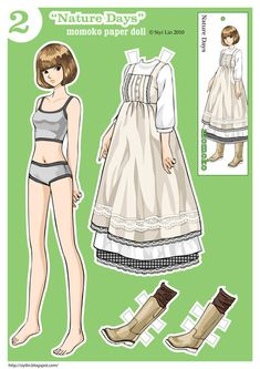 Momoko Paper Doll~  Nature Days by siyilin1500 free paper dolls international artist and writer Arielle Gabriel's The International Paper Doll Society free paper dolls for Pinterest pals *