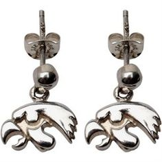 Dayna U Iowa Hawkeyes Sterling Post Dangle Earrings