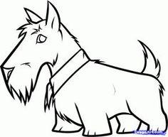 how to draw a scottie dog