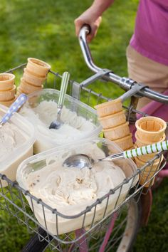 Bicycle ice cream stand!