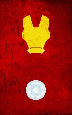 Iron Man Original Poster. Superhero Minimalist Poster Designs by Calvin Lin. #superhero #minimalism #posters #graphicdesign
