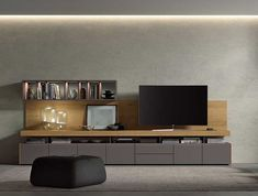 Living Room Tv Cabinet, Tv Unit Design, Tv Cabinets, Flat Screen, Ideas Para, Bed, Home, Furniture Design, Tv Living Rooms