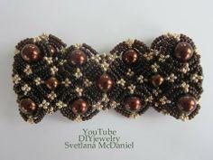 DIYjewelry:Chocolate and Gold Bracelet.Шоколадно-золотой браслет .