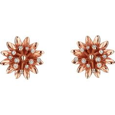 Gucci Flora 18ct pink gold earrings ($1,650) ❤ liked on Polyvore featuring jewelry, earrings, gucci, earring jewelry, pink gold jewelry, gucci jewelry, red gold jewelry and rose gold earrings