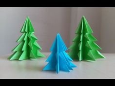 How to Make Christmas Tree in 5 Min. at Home with Origami Paper & Scissior Only - YouTube