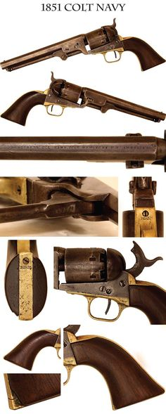 "1851 Colt ""Navy"" revolver in caliber. Approximately 000 produced between Weapons Guns, Guns And Ammo, Rifles, Black Powder Guns, Cowboy Action Shooting, Revolver Pistol, Cool Guns, Le Far West, Bushcraft"
