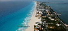 Cancun, Mexico --- Hotel Strip and Beach.
