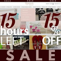 Just 15hours LEFT for 15% OFF  in our 60 HOUR WEEKEND SALE   15% OFF - grab your ALL your gifts stunningly Personalised - until 9am Monday 20th February. Applies to all products from our gift ranges > > > ->> Uptown GIFTS & ->> Uptown WEDDINGS (even UPTOWN.CHRISTMAS)  Just enter 'ENJOY15' to get 15% off your items on all orders of 20 or more one per account/customer Don't worry once the sale closes 10% discount for all new subscribers still applies  Don't forget Mother's Day (UK) Sunday 26th…