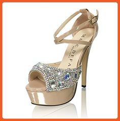 Marc Defang New York Women's AB Crystal Snow Diamond Platform Strappy Sandal Heels (10.5M US) - Pumps for women (*Amazon Partner-Link)