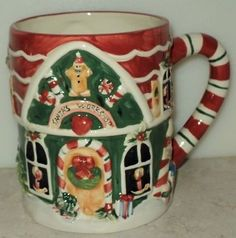CIC Susan Winget Figural Santas Workshop Christmas Holiday Coffee Cup Mug ~ This Item is for sale at LB General Store http://stores.ebay.com/LB-General-Store ~Free Domestic Shipping ~